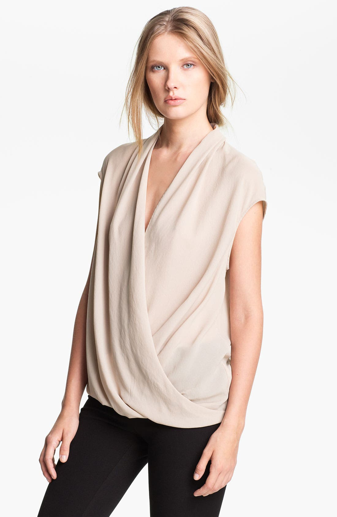 Alternate Image 1 Selected - Helmut Lang 'Soft Shroud' Twist Front Blouse