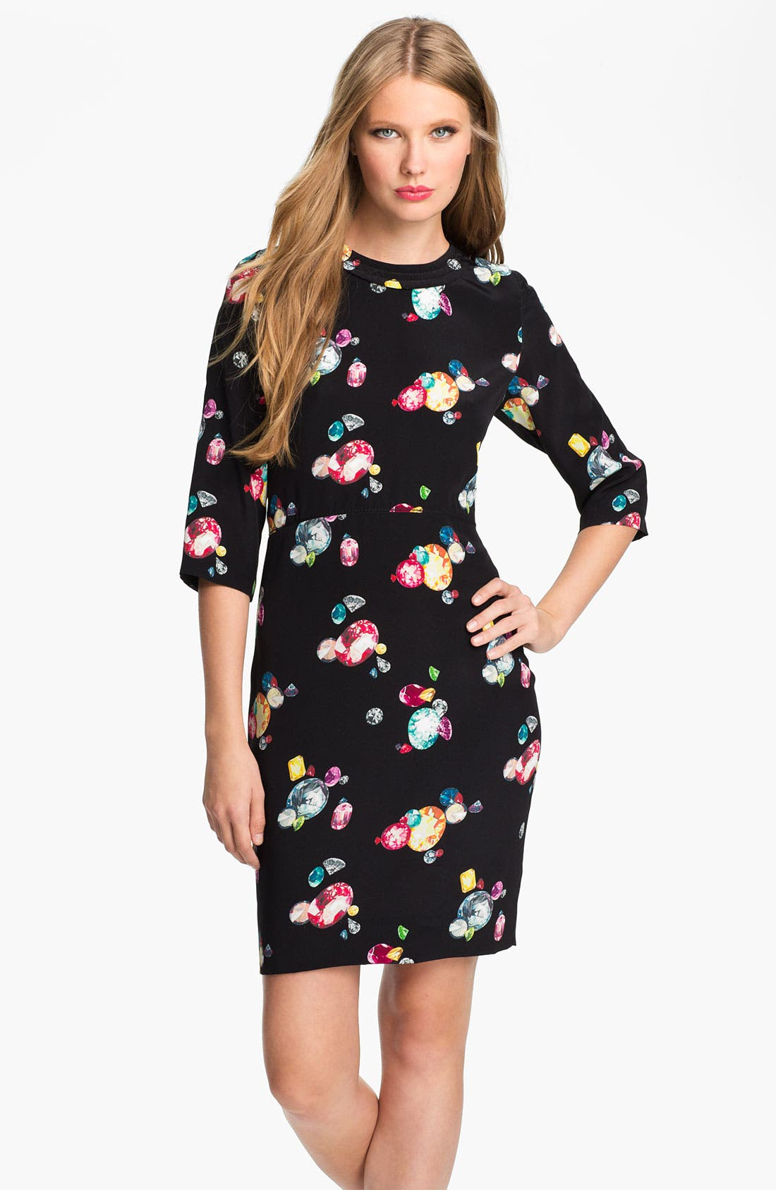 Alternate Image 1 Selected - kate spade new york 'amber' silk sheath dress
