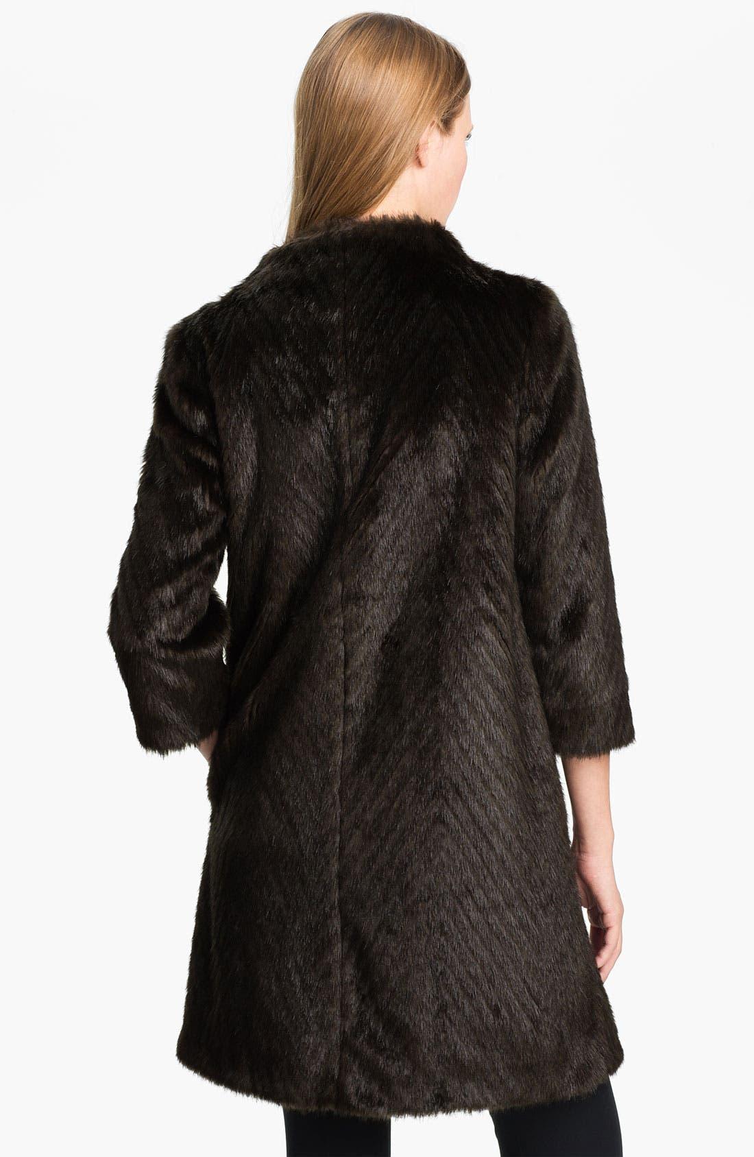 Alternate Image 2  - Ted Baker London Faux Fur Coat