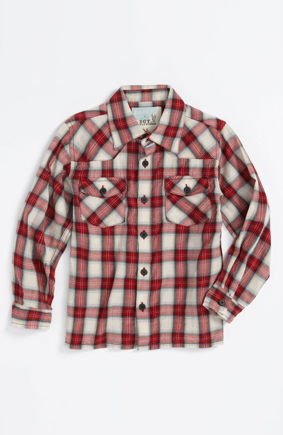 Alternate Image 1 Selected - Peek 'James' Western Shirt (Toddler, Little Boys & Big Boys)