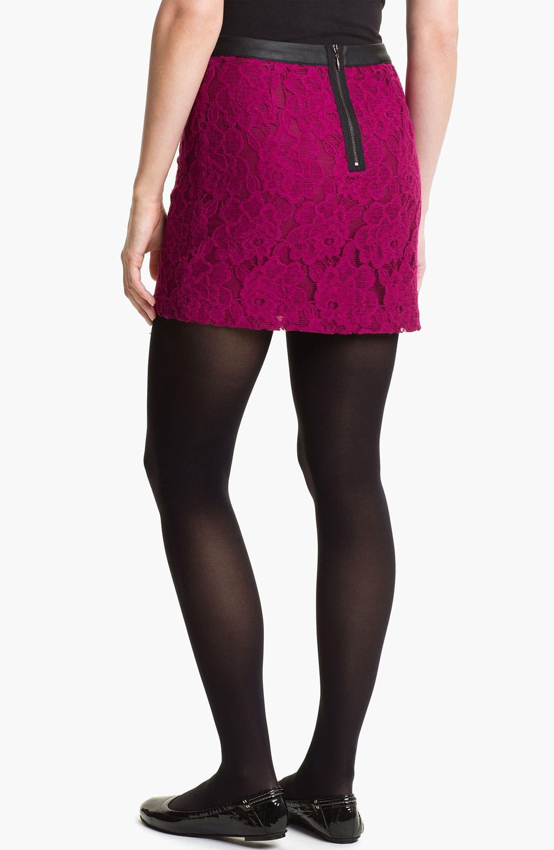 Alternate Image 2  - Kensie Lace Skirt