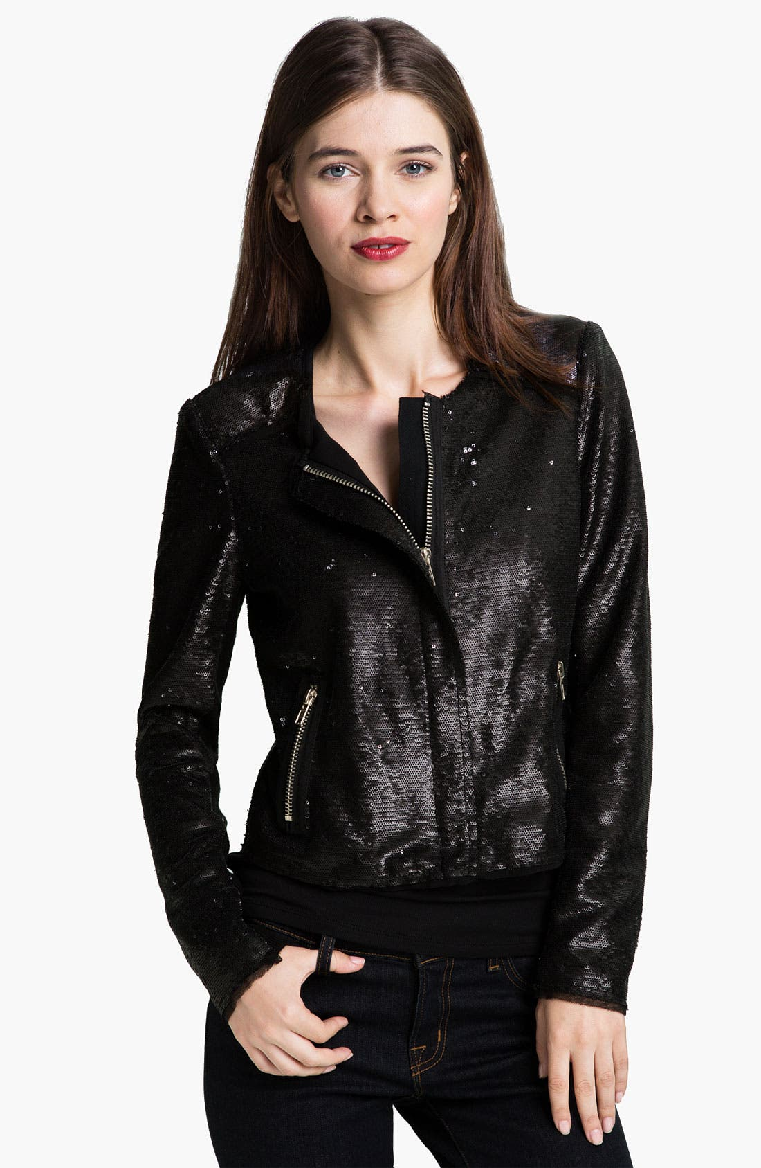 Main Image - Rebecca Taylor Sequin Jacket