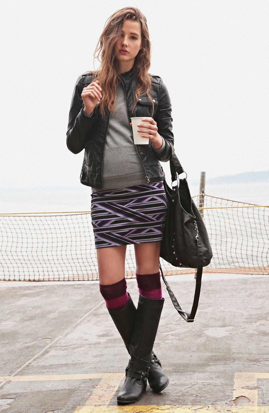 Alternate Image 3  - Lily White Bandage Miniskirt (Juniors)