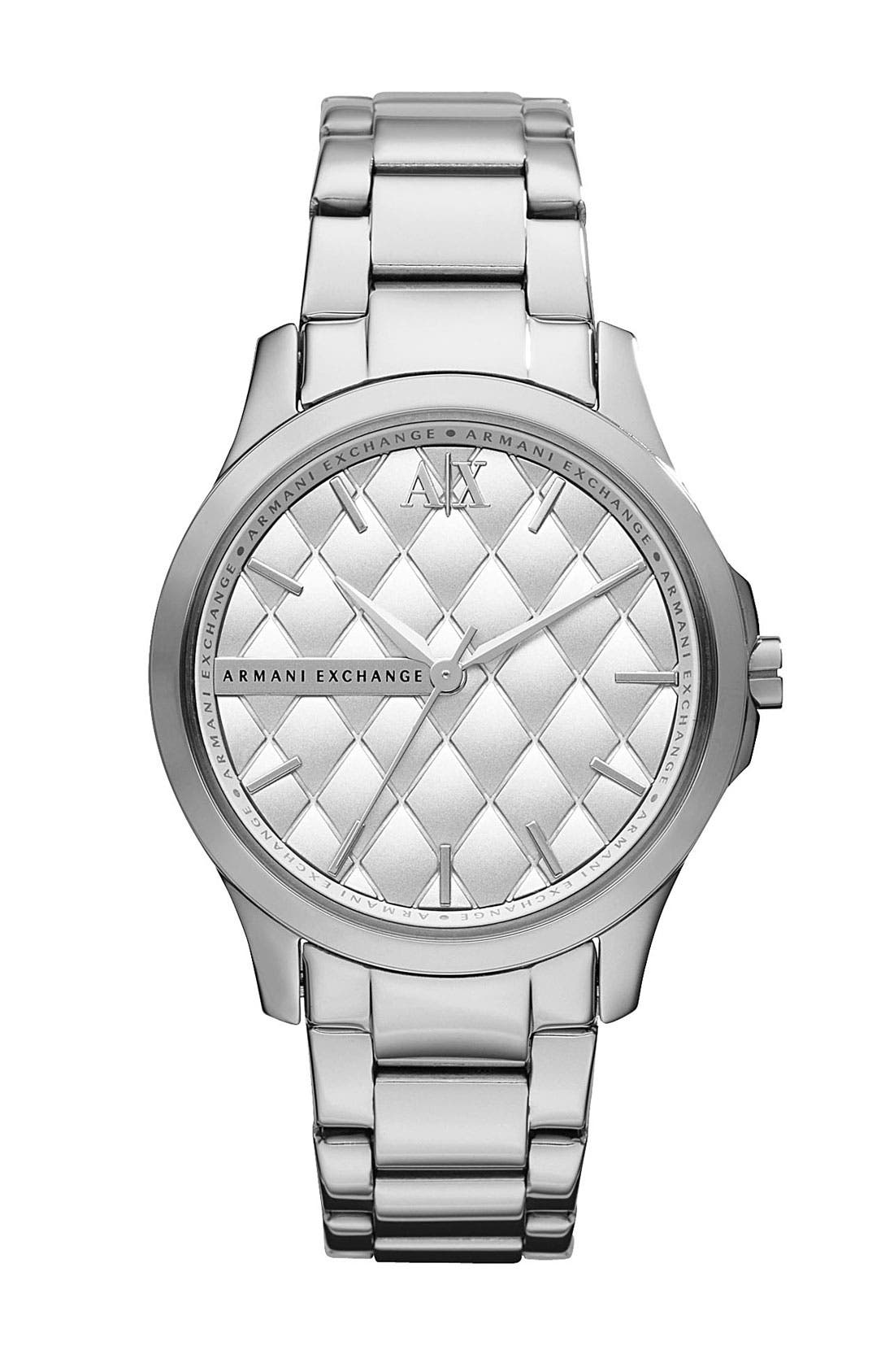 Main Image - AX Armani Exchange Quilted Dial Watch, 36mm (Online Only) (Special Purchase)