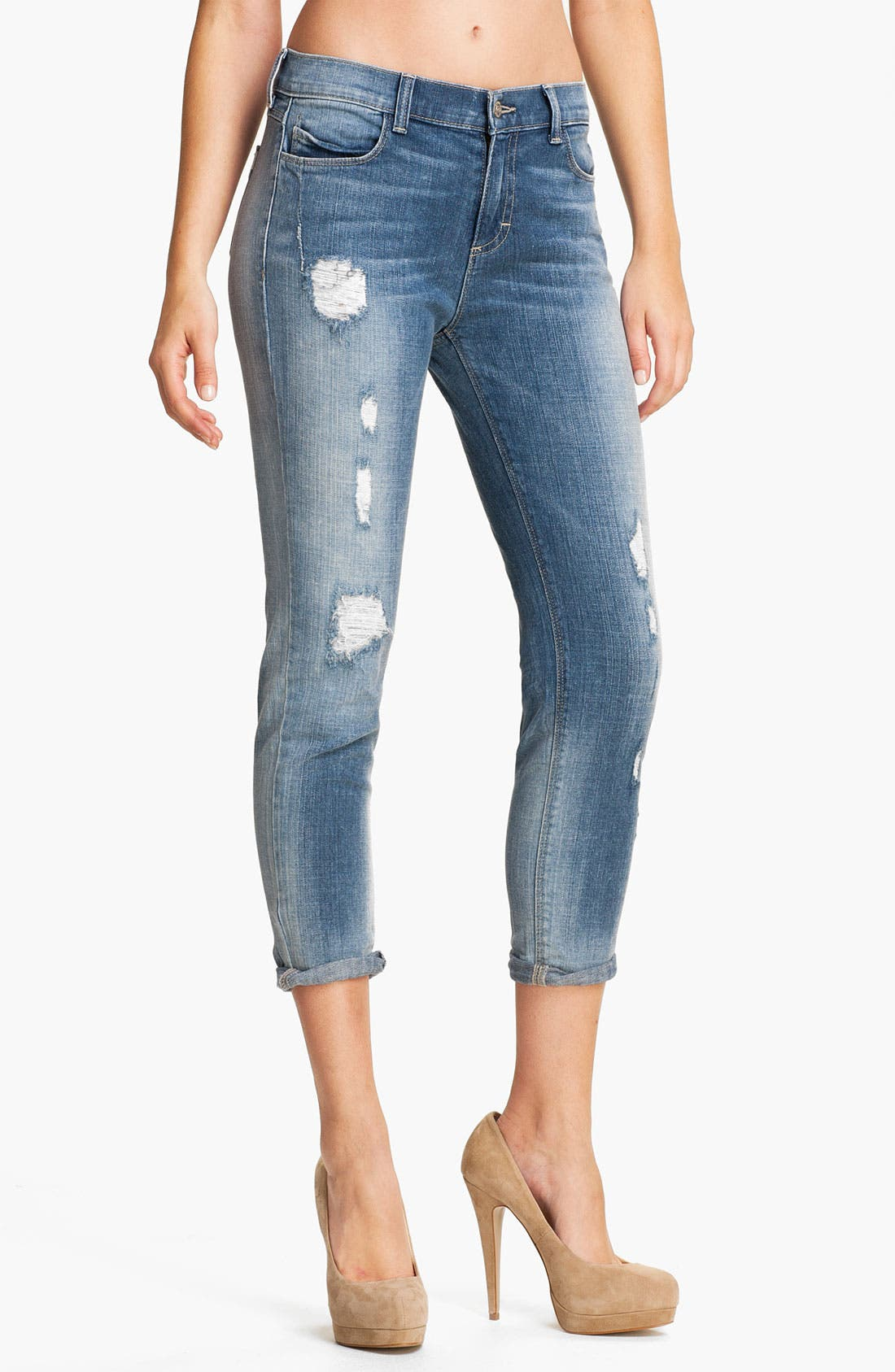 Main Image - Siwy 'Kendra' Destroyed Crop Skinny Jeans (I Don't Care)