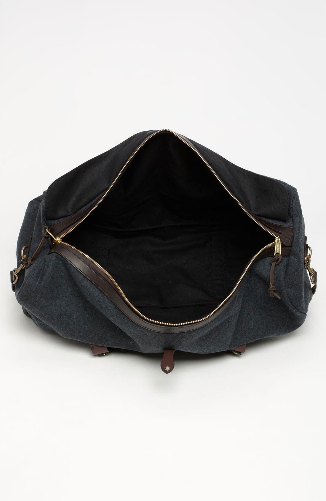 Large Wool Duffel Bag,                             Alternate thumbnail 3, color,                             Charcoal