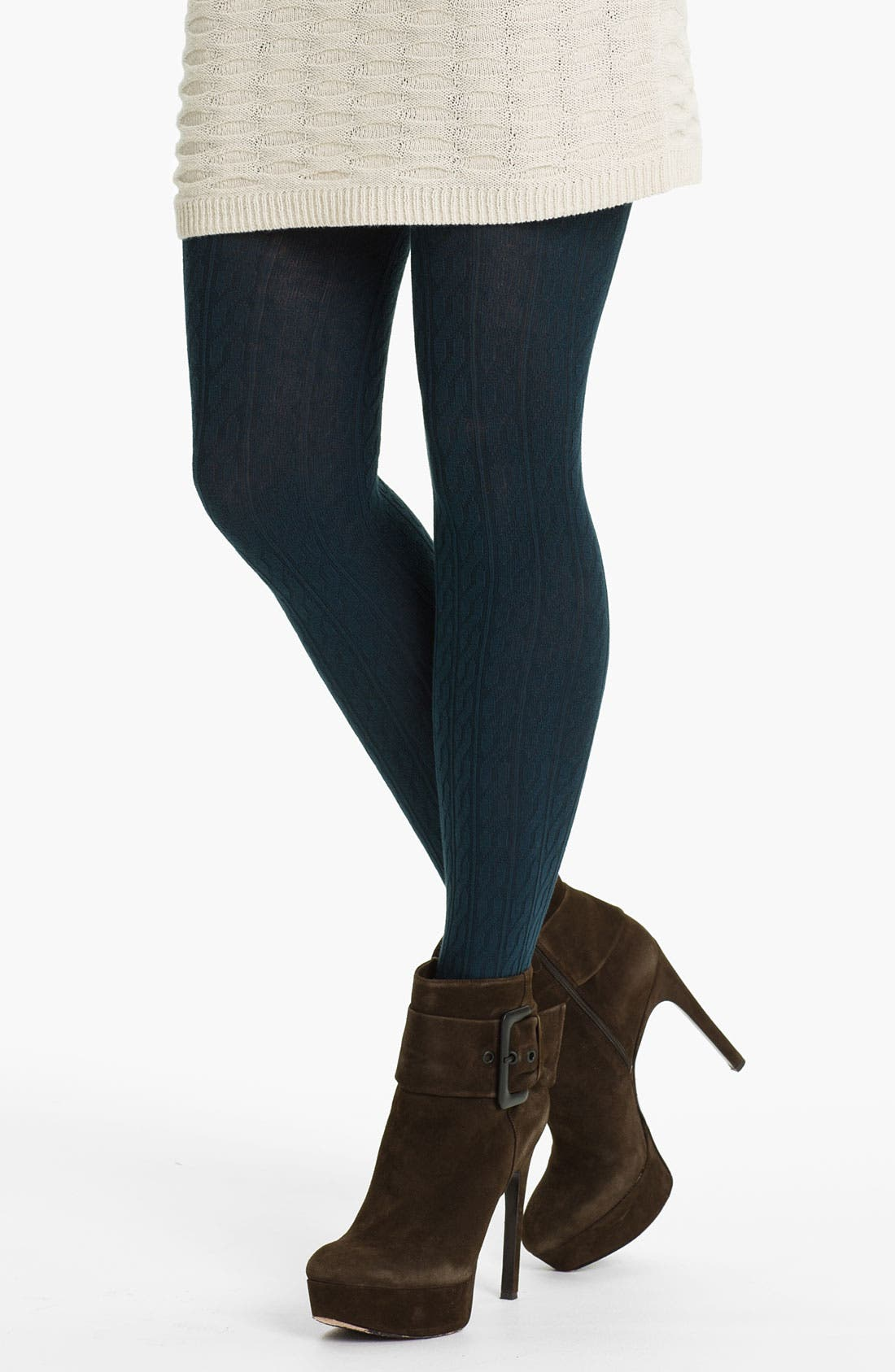 Main Image - Oroblu 'Mary' Cotton Cable Tights
