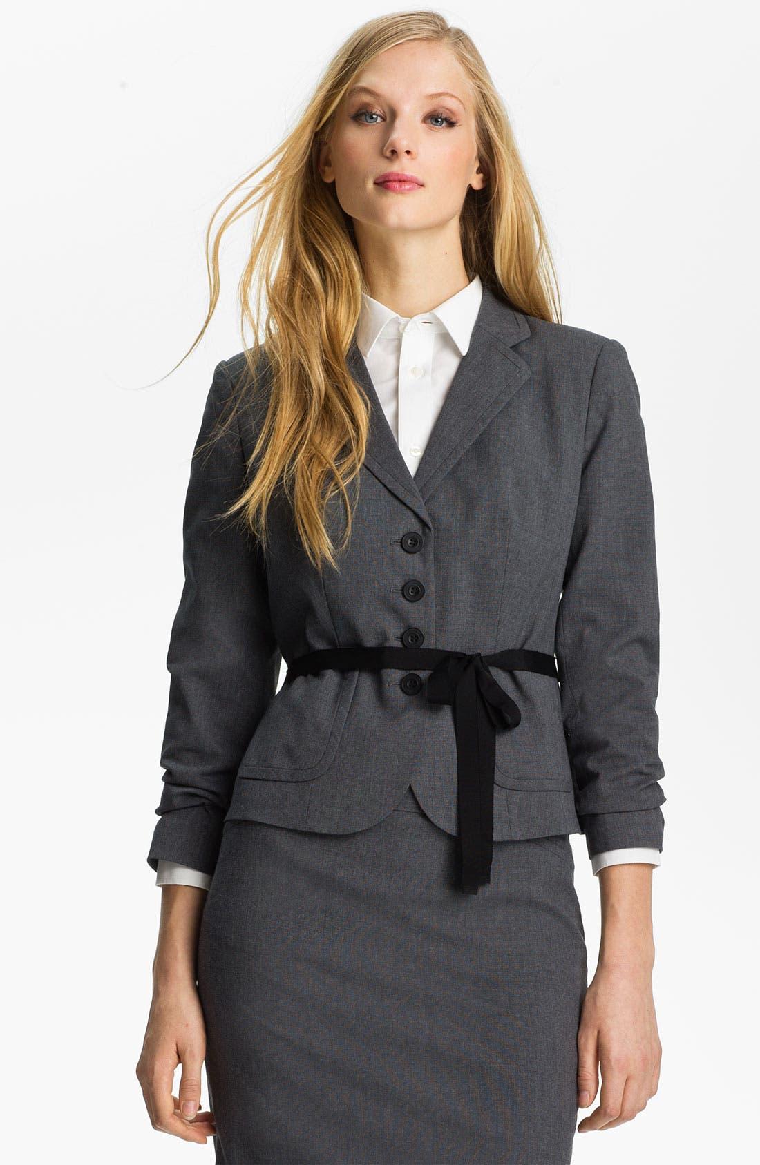 Main Image - Halogen® Micro Texture Jacket (Petite)