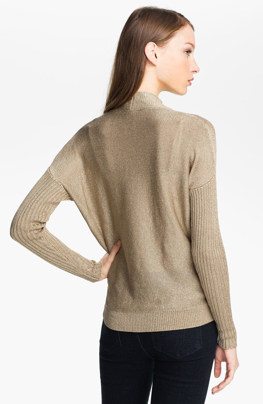 Alternate Image 2  - Vince Camuto High Low Metallic Sweater