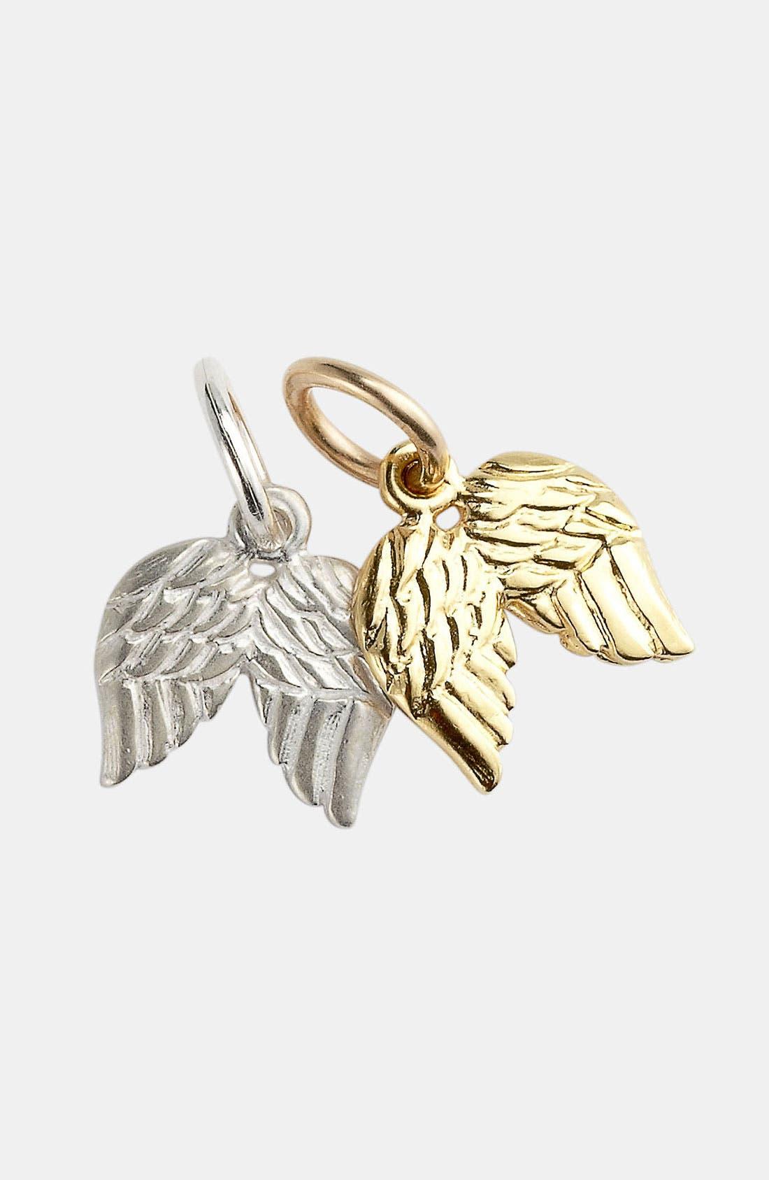 Alternate Image 1 Selected - Dogeared 'Create - Believe' Angel Wings Charm