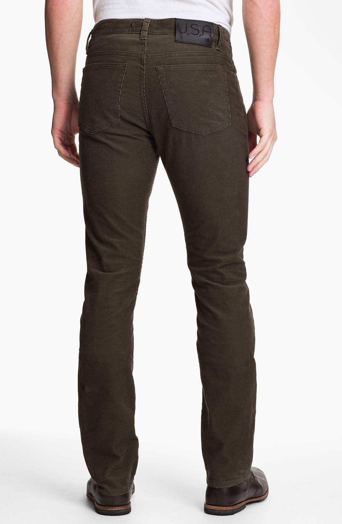 Alternate Image 2  - John Varvatos Star USA 'Bowery' Slim Straight Leg Corduroy Pants