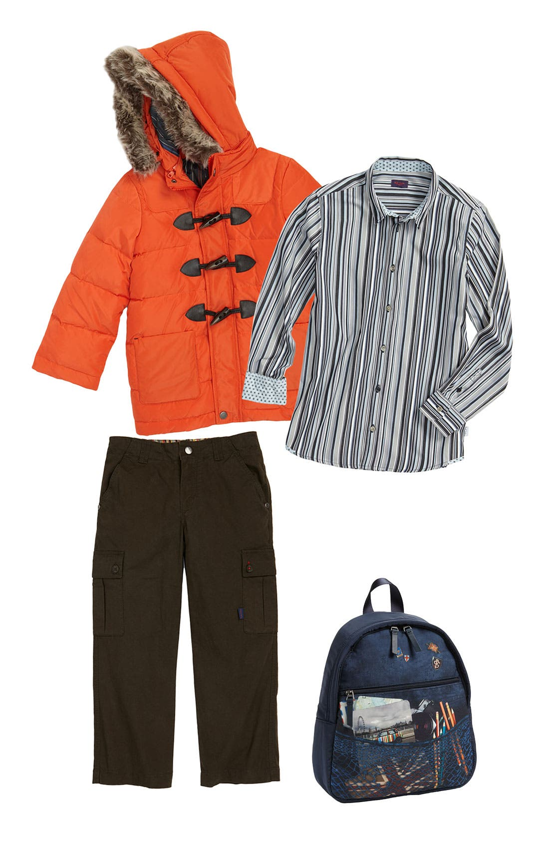 Alternate Image 1 Selected - Paul Smith Junior Jacket, Shirt & Pants (Little Boys)