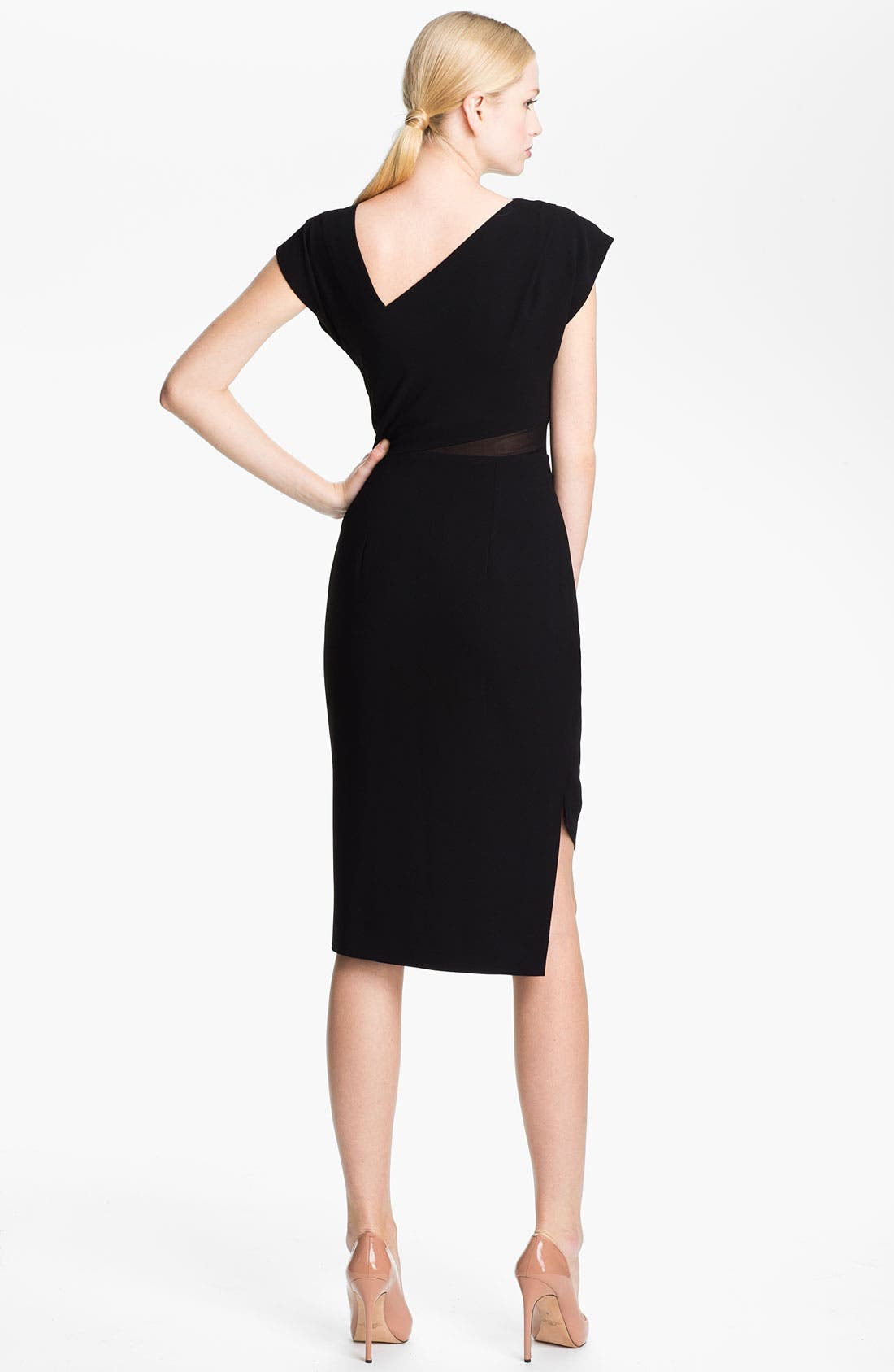 Alternate Image 2  - Rachel Roy Mesh Insert Sheath Dress