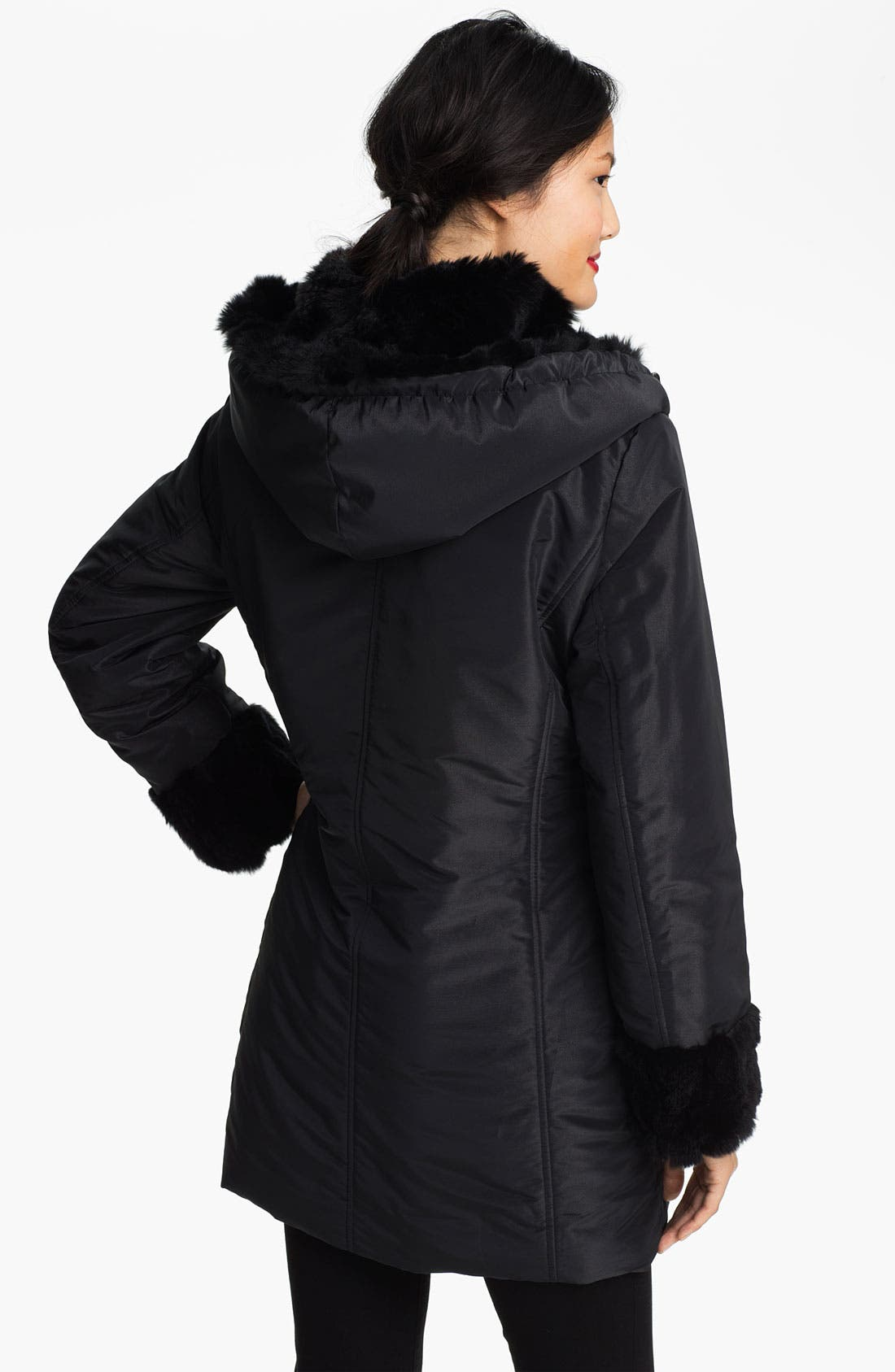 Alternate Image 3  - Jessica Wilde Storm Coat with Genuine Rabbit Fur