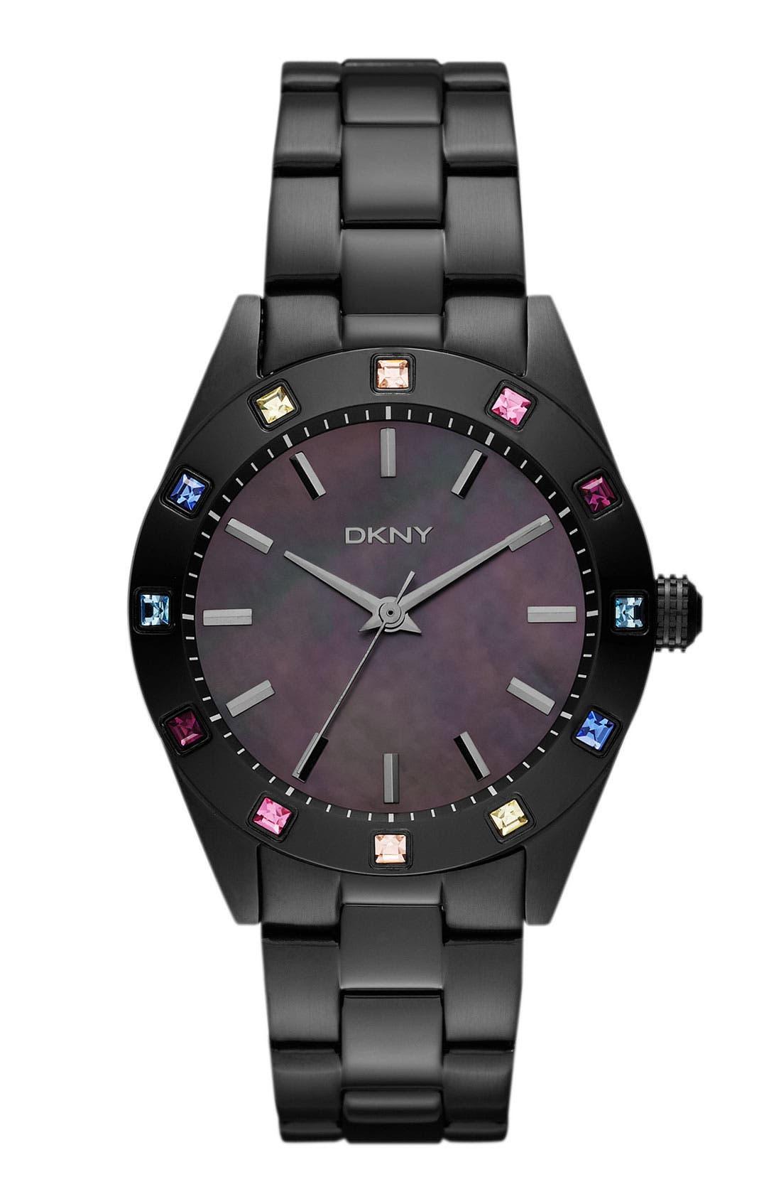 Alternate Image 1 Selected - DKNY Carousel Crystal Bezel Bracelet Watch