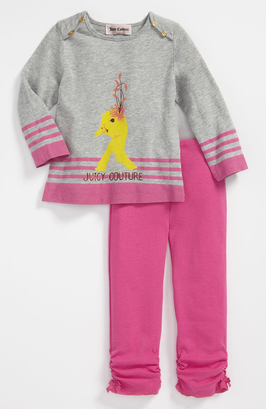 Alternate Image 1 Selected - Juicy Couture Knit Shirt & Leggings (Infant)