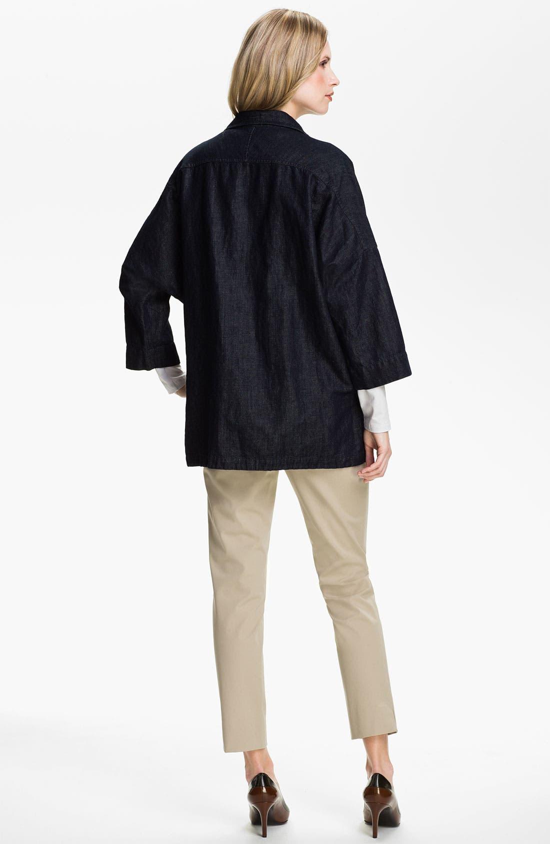 Alternate Image 5  - Lafayette 148 New York 'Bleecker' Polished Twill Pants