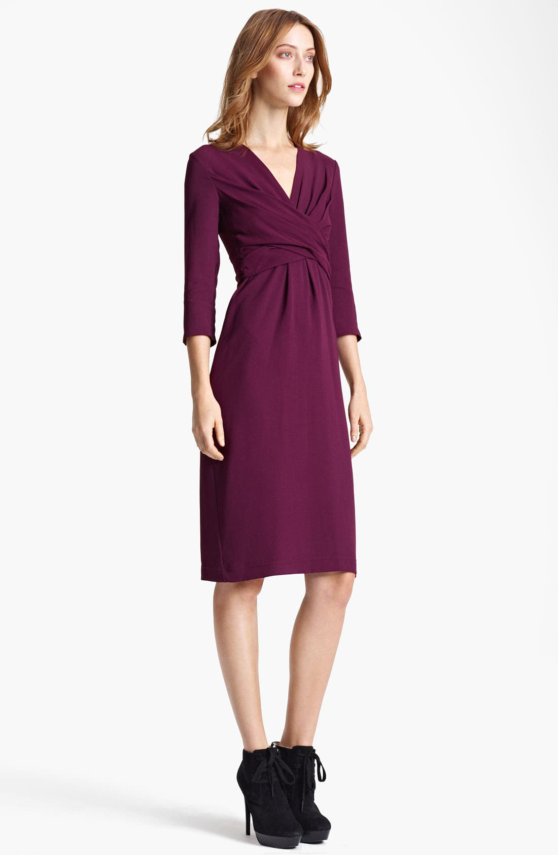 Alternate Image 1 Selected - Burberry London Twisted Waist Crepe Dress
