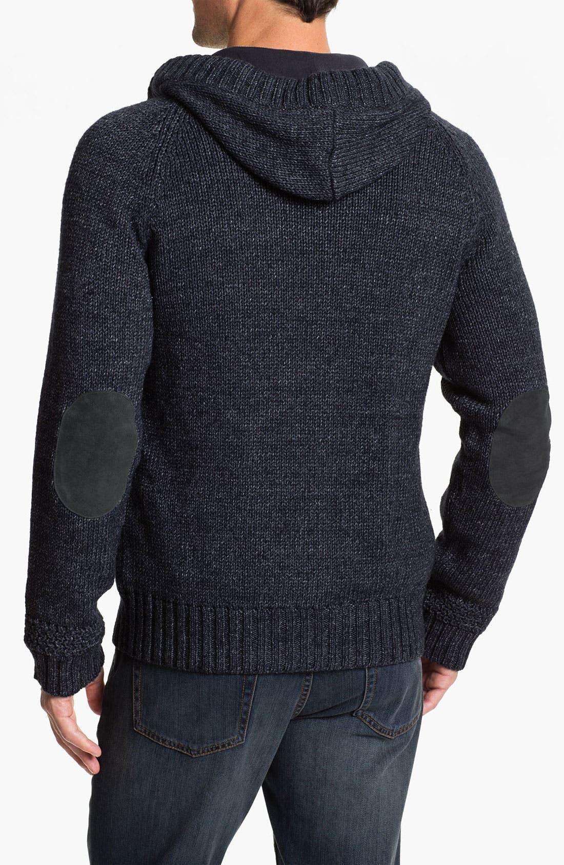 Alternate Image 2  - UGG® Australia 'Fulton' Hooded Button Cardigan