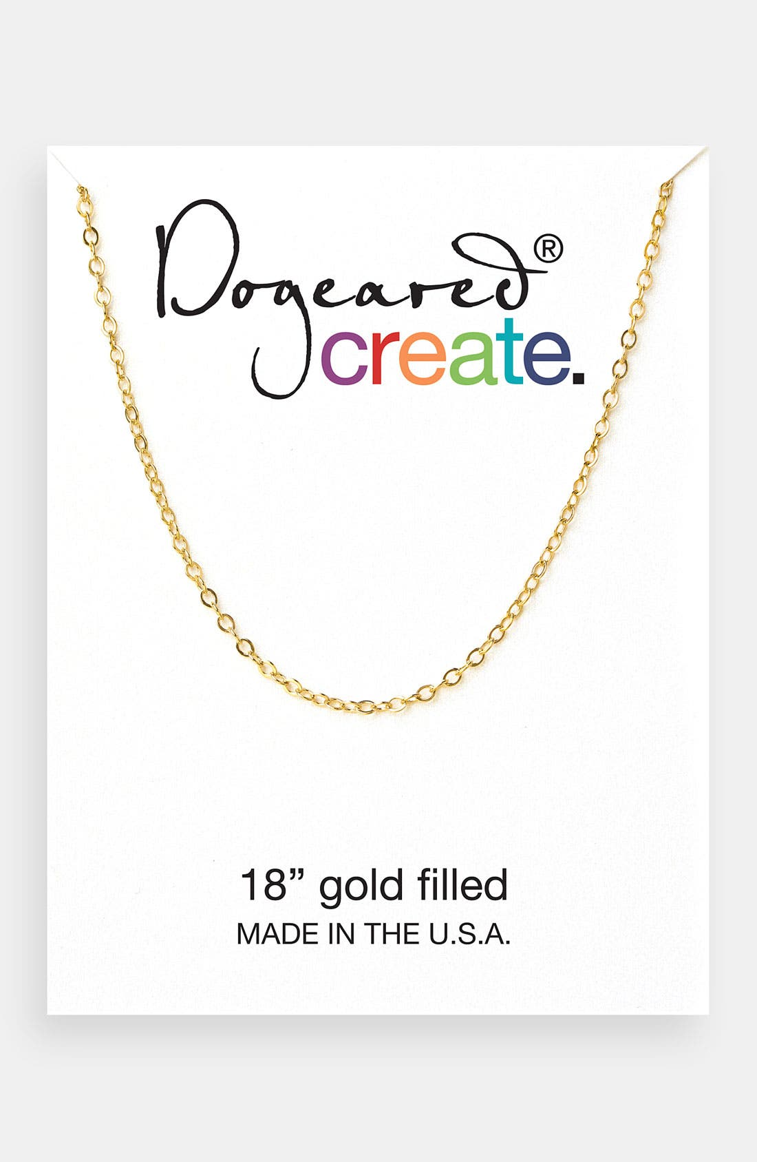 Main Image - Dogeared 'Create' Link Necklace
