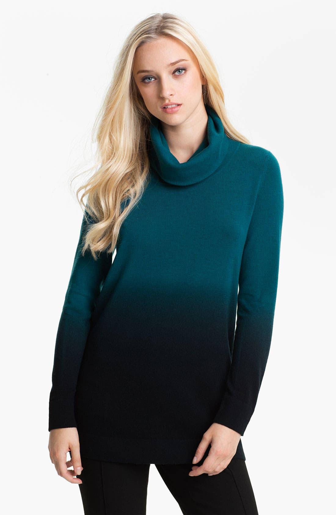 Alternate Image 1 Selected - Nordstrom Collection Ombré Cashmere Turtleneck Sweater