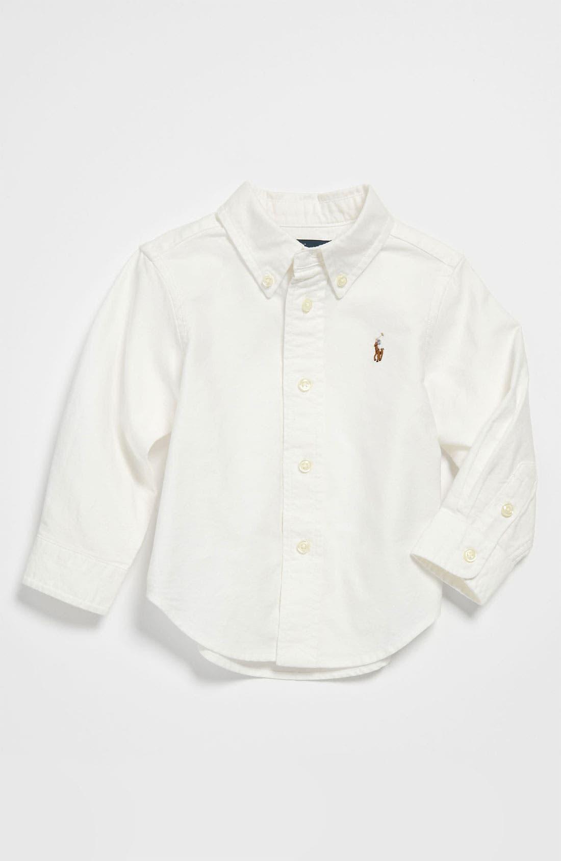 Alternate Image 1 Selected - Ralph Lauren Woven Shirt (Baby)