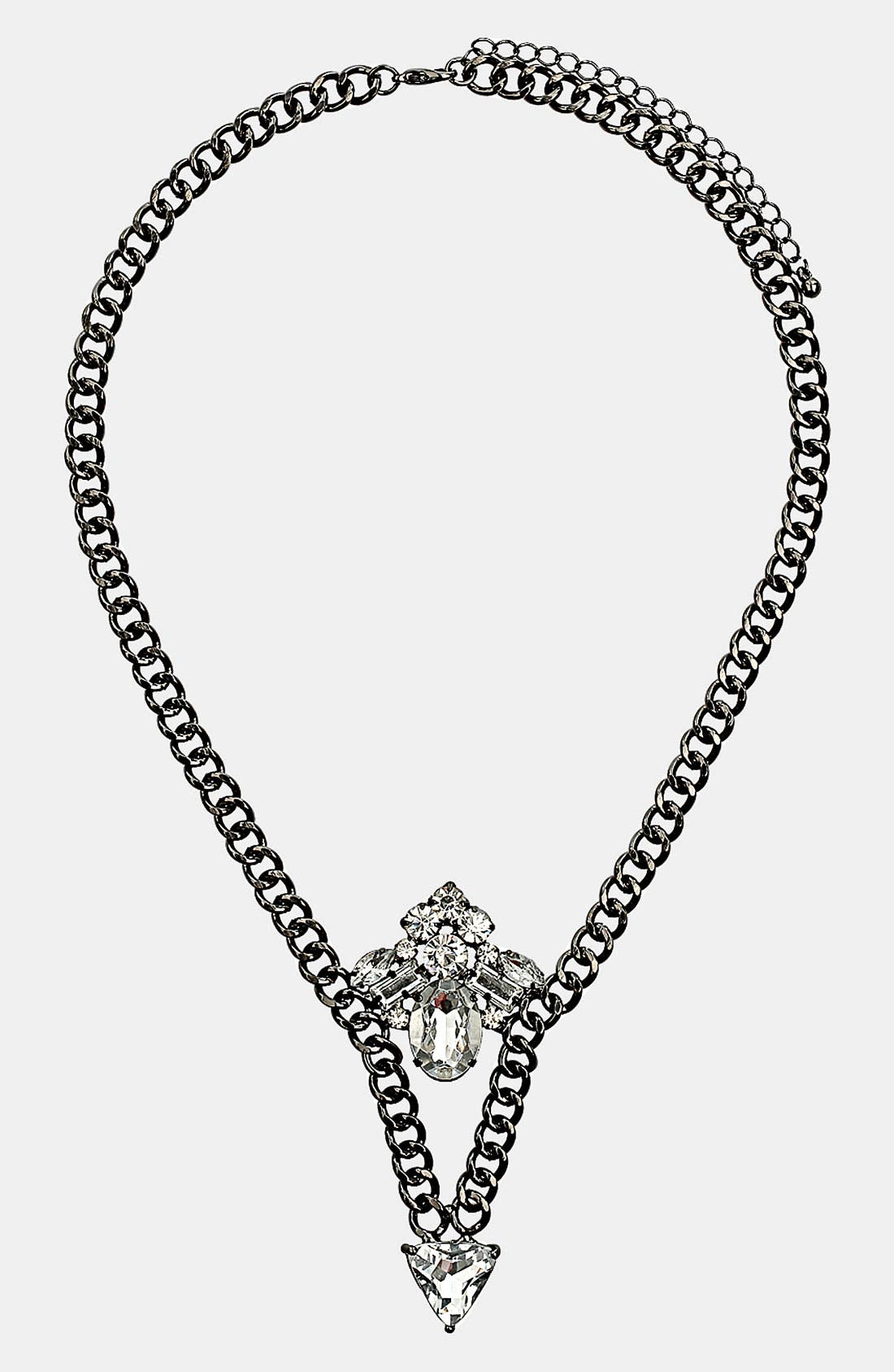 Alternate Image 1 Selected - Topshop 'Sparkle V' Necklace