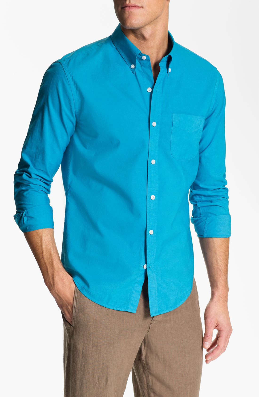 Alternate Image 1 Selected - Vince Garment Dyed Sport Shirt