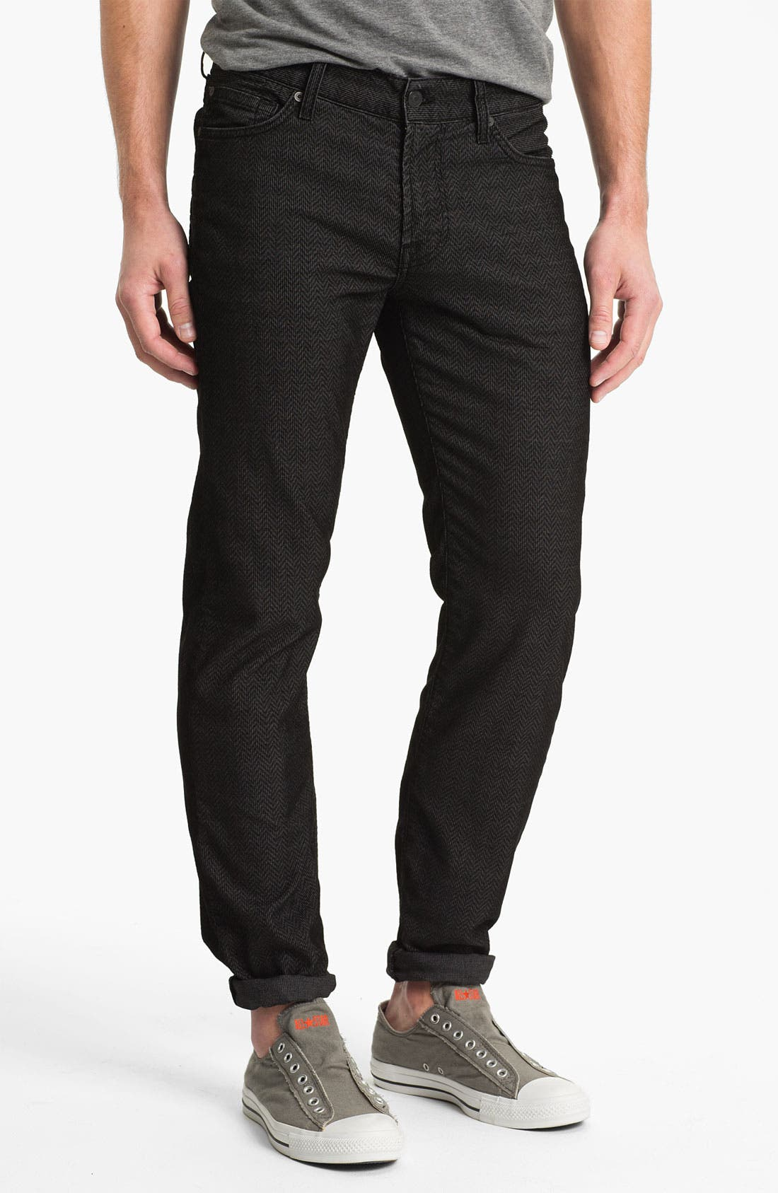 Alternate Image 2  - 7 For All Mankind® 'Slimmy' Slim Straight Leg Herringbone Corduroy Pants