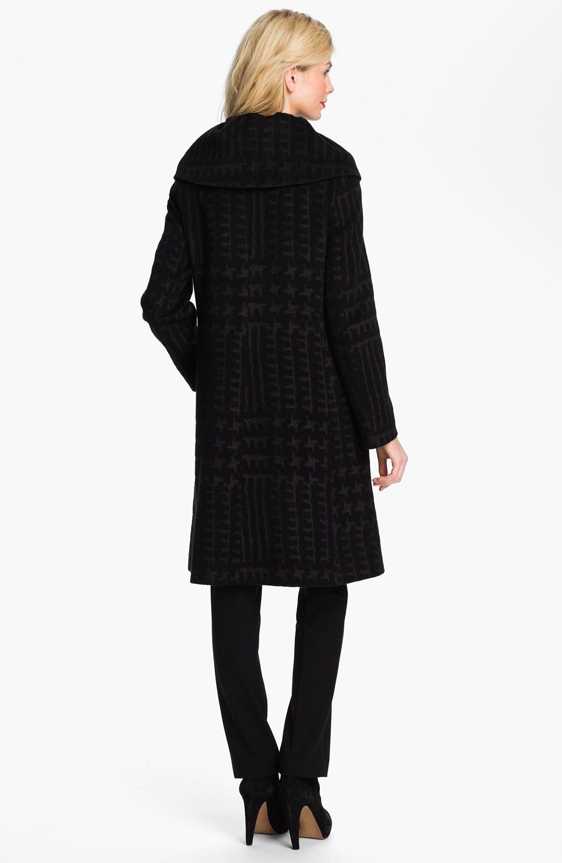 Alternate Image 2  - Cinzia Rocca Patterned Wool Blend Coat