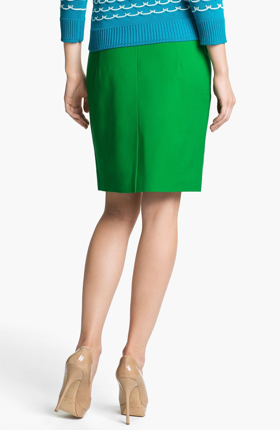 Alternate Image 2  - Milly Seamed Pencil Skirt