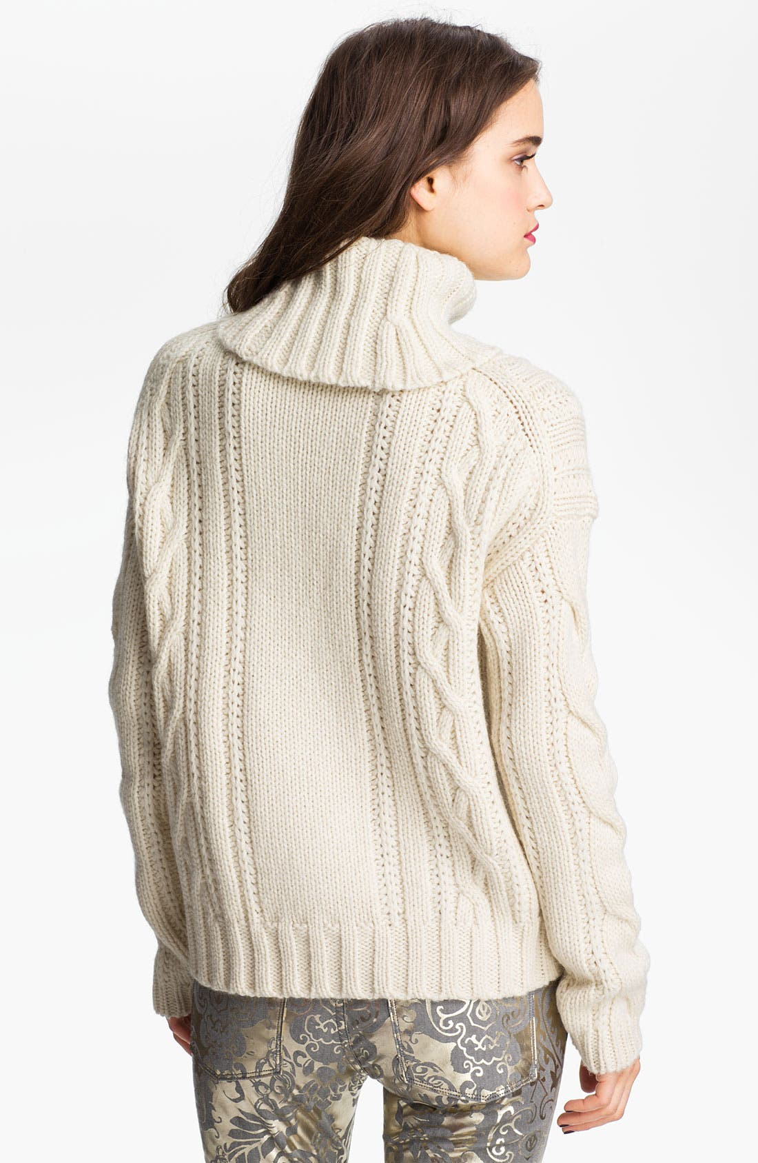 Alternate Image 2  - Juicy Couture Chunky Cable Turtleneck Sweater