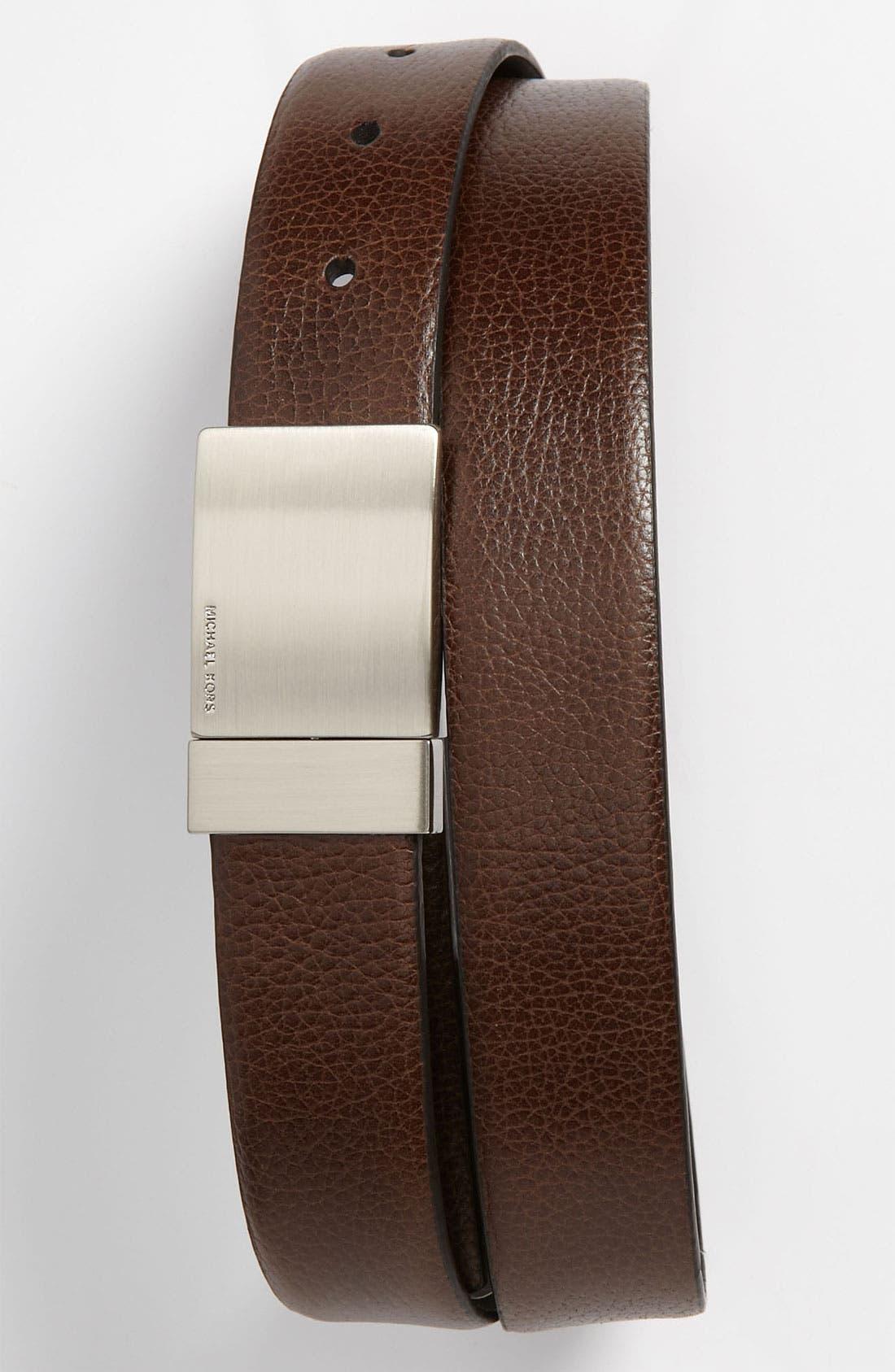 Alternate Image 2  - Michael Kors Reversible Leather Plaque Buckle Belt