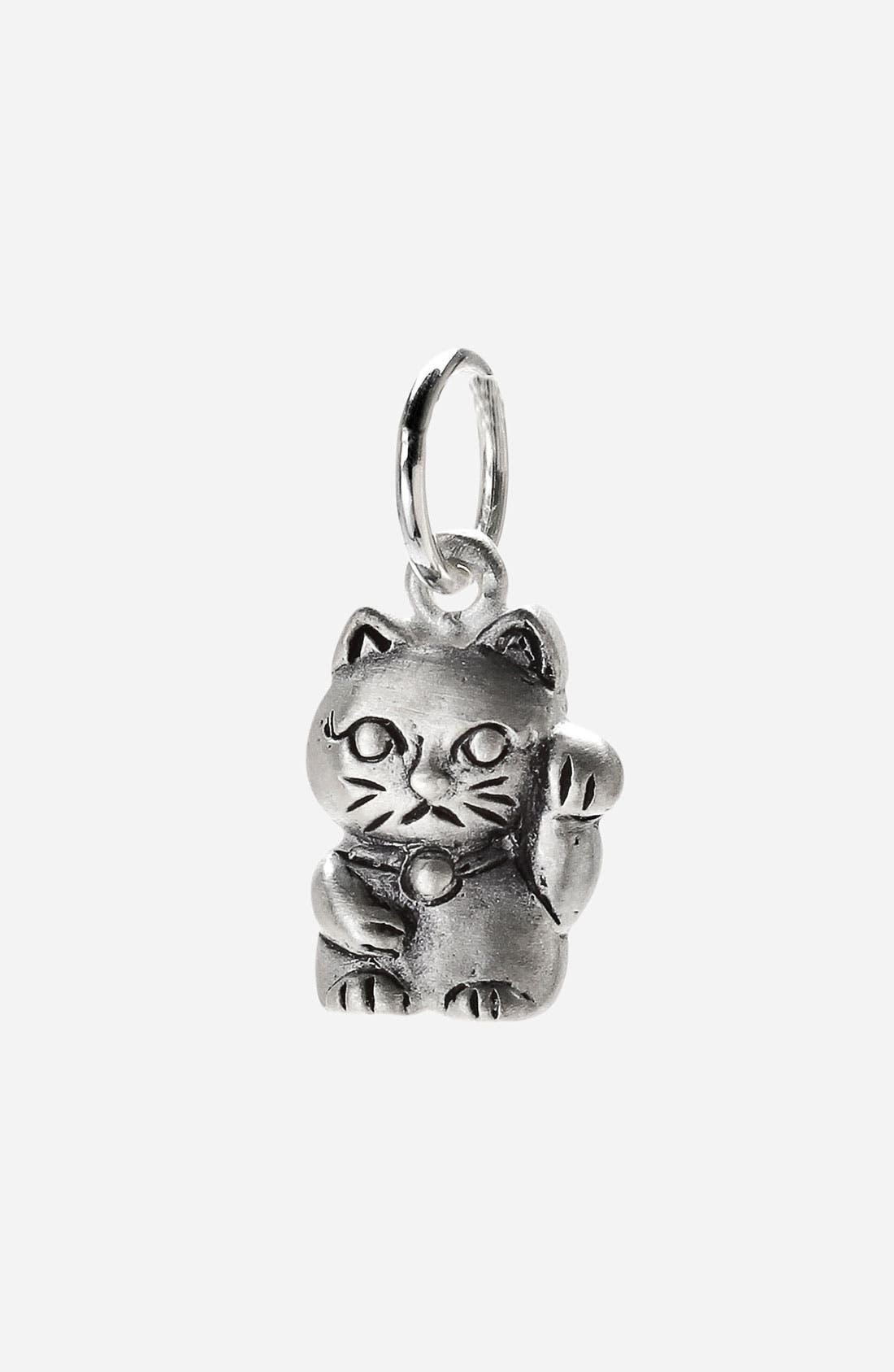 Main Image - Dogeared 'Create - Lucky' Cat Charm