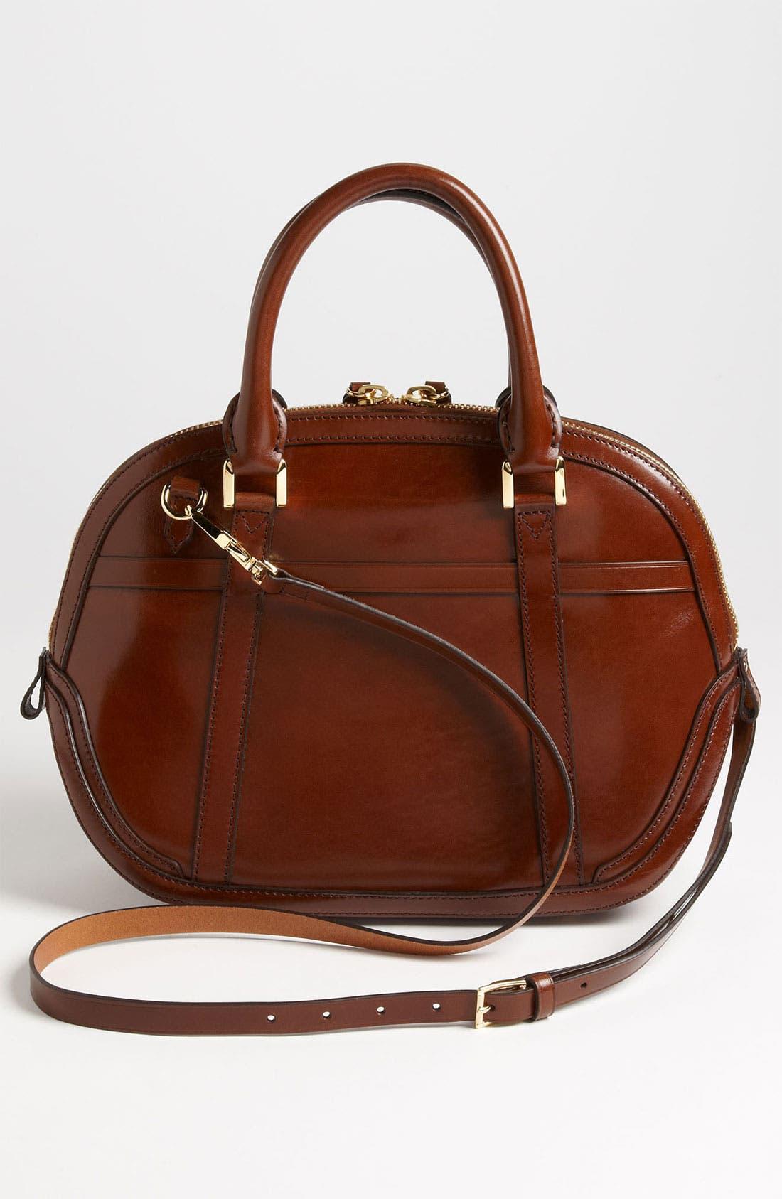 Alternate Image 4  - Burberry Glazed Leather Bowling Bag