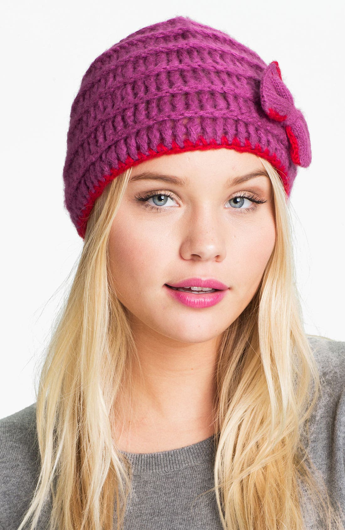 Alternate Image 1 Selected - Lulu Knit Bow Hat