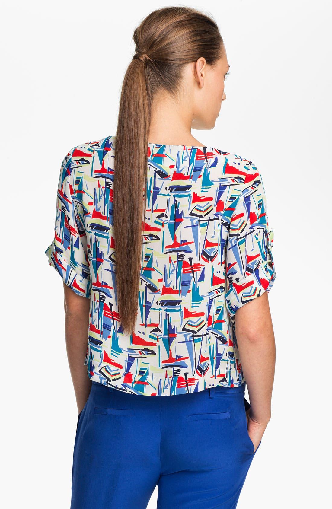 Alternate Image 2  - Milly 'Gillian' Crop Silk Top