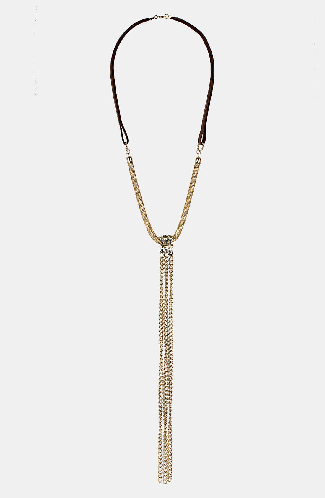 Main Image - Topshop Mesh Tassel Necklace