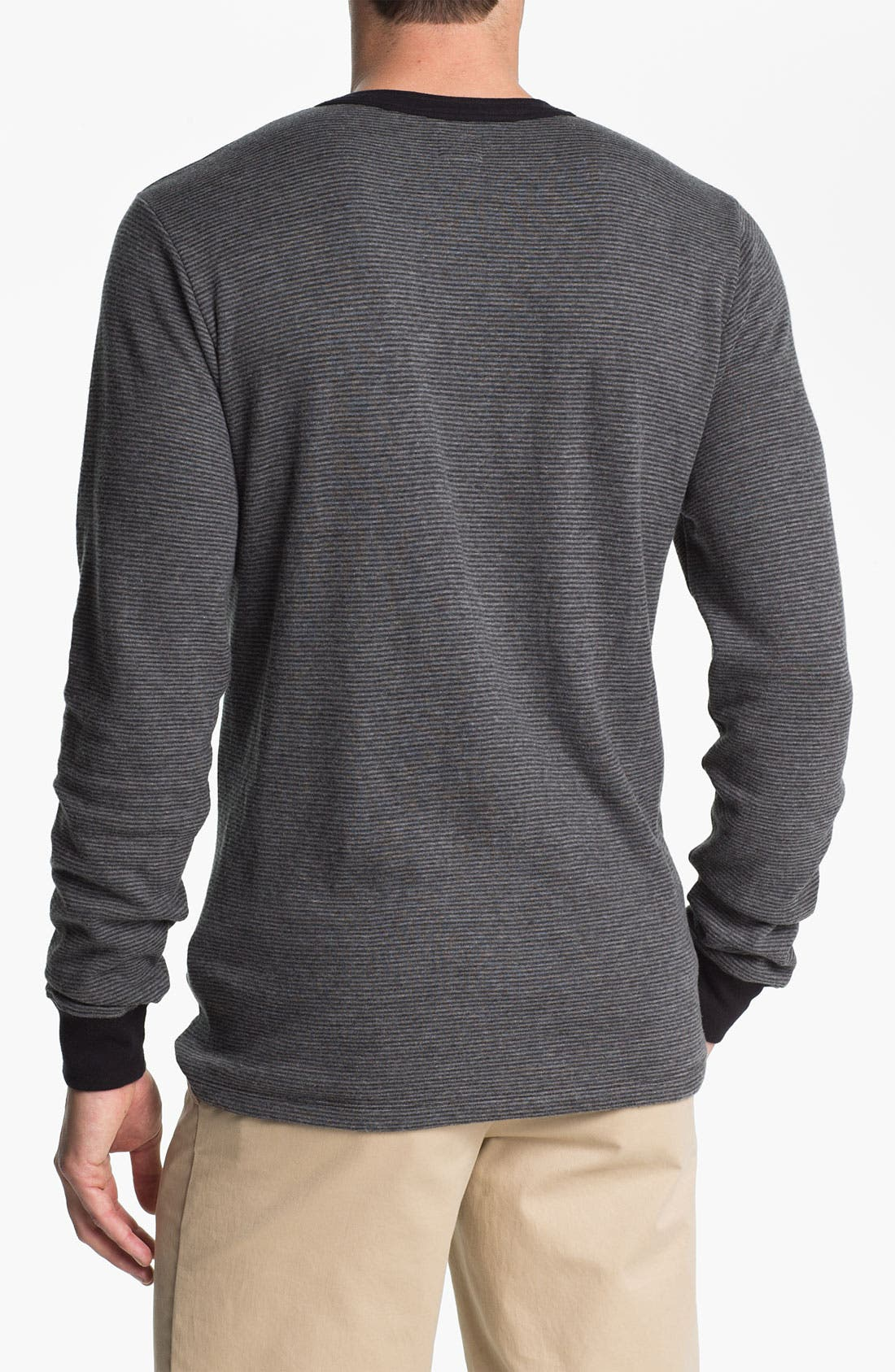 Alternate Image 2  - Obey Microstripe Slim Fit Henley T-Shirt