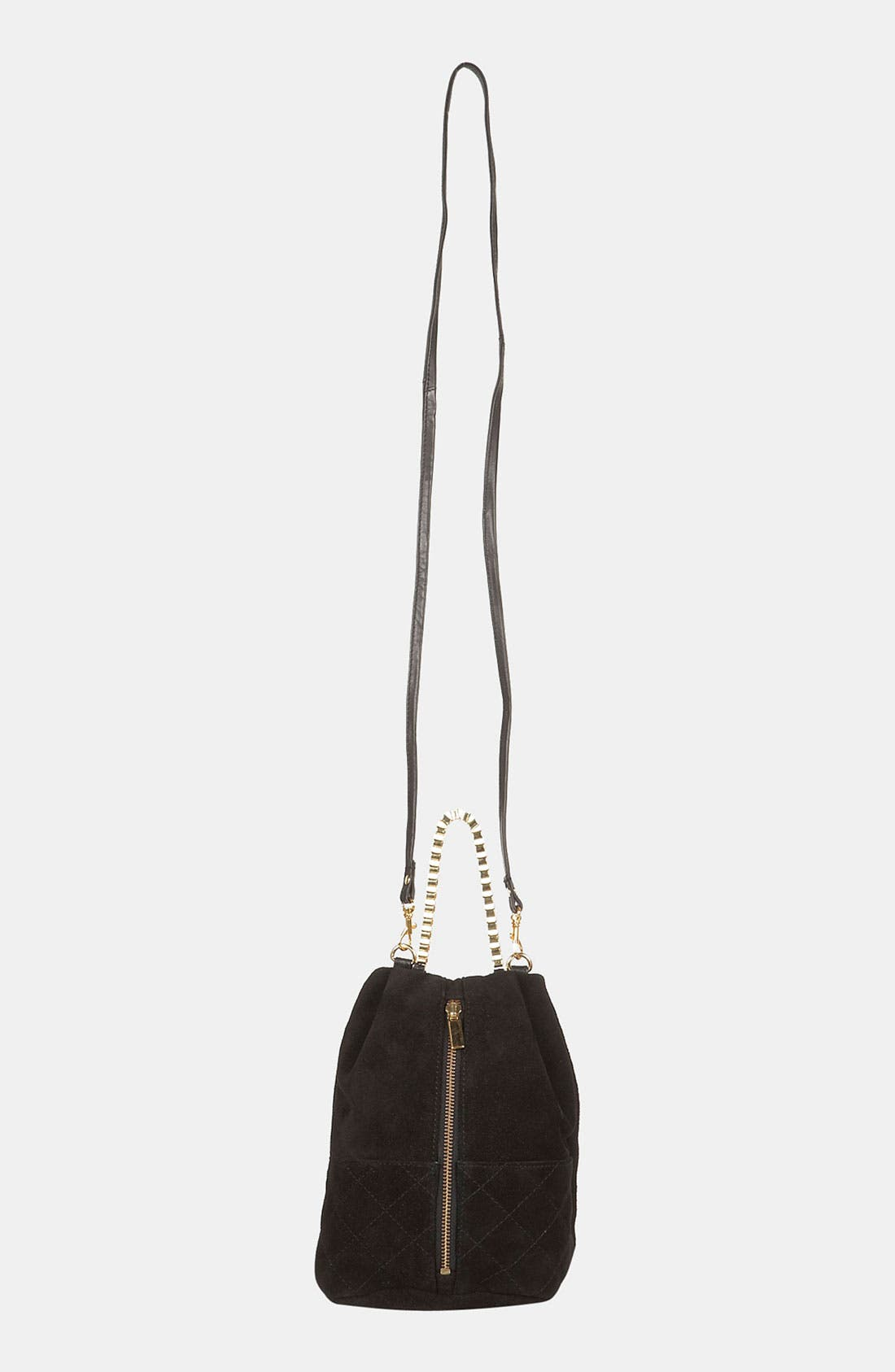 Alternate Image 2  - Topshop Quilted Box Chain Crossbody Bag