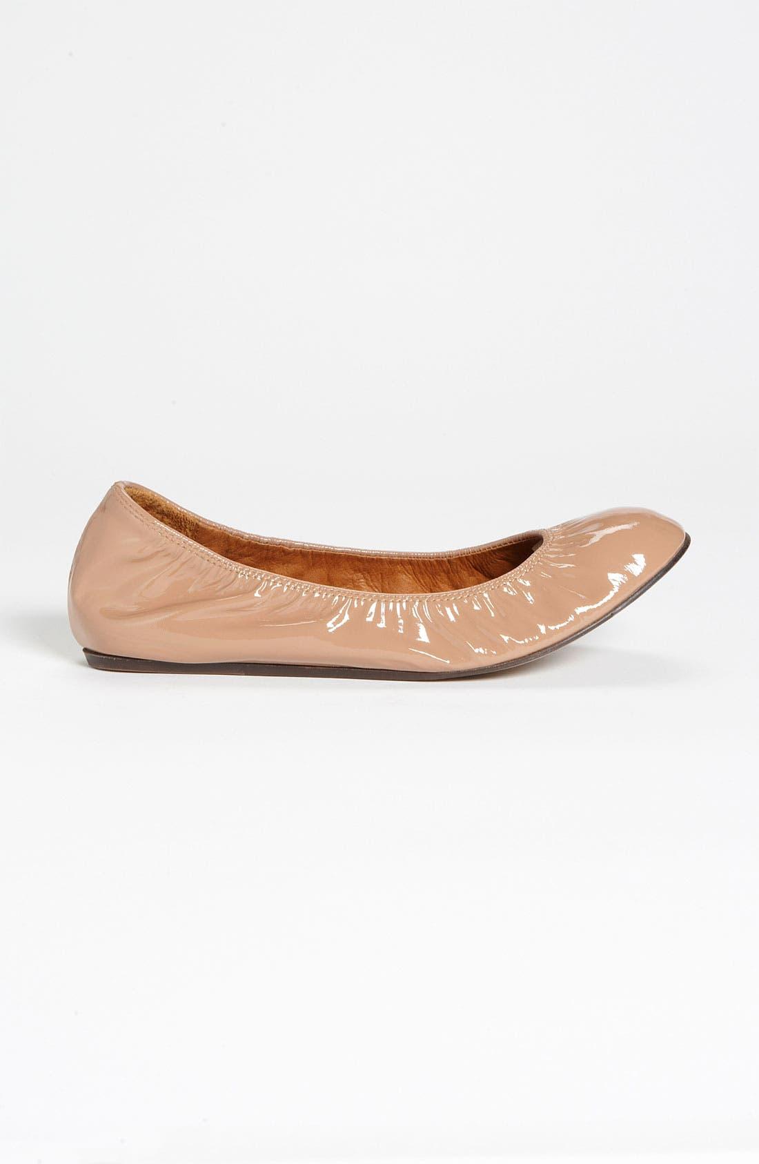 Alternate Image 4  - Lanvin Patent Ballerina Flat