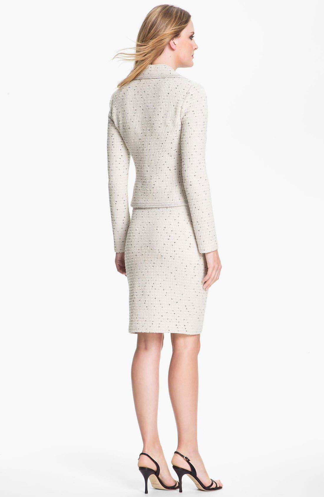 Alternate Image 4  - St. John Collection Shimmer Dot Tweed Jacket