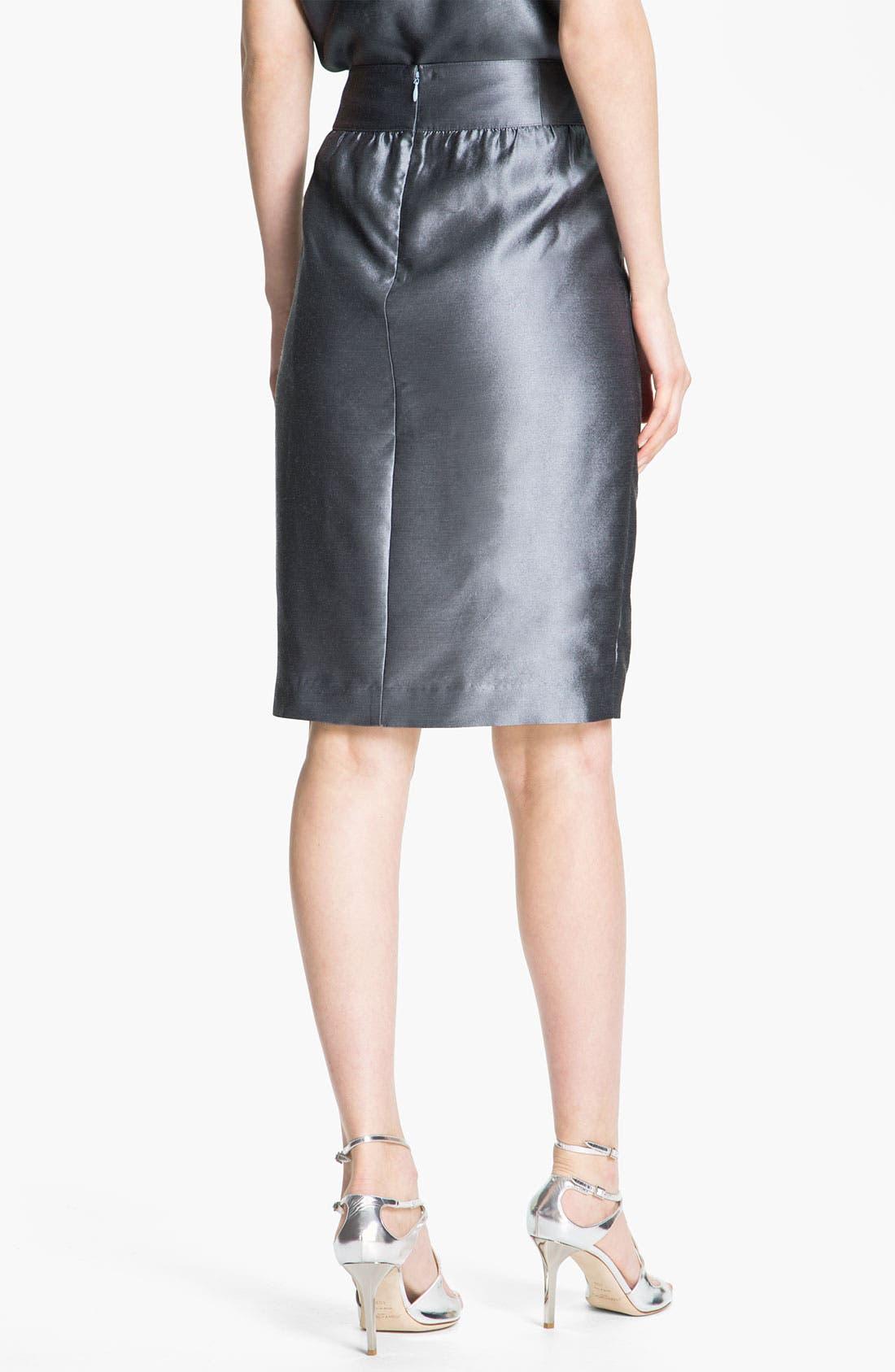 Alternate Image 3  - St. John Collection Taffeta Skirt