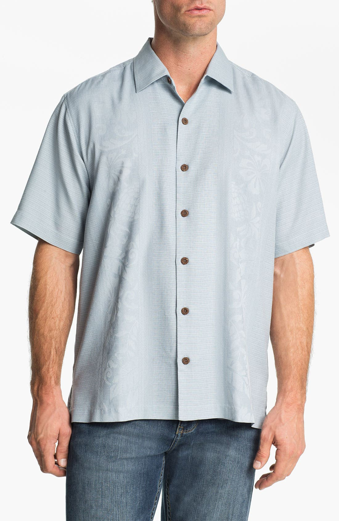 Main Image - Tommy Bahama 'Amazon' Original Fit Silk Jacquard Camp Shirt