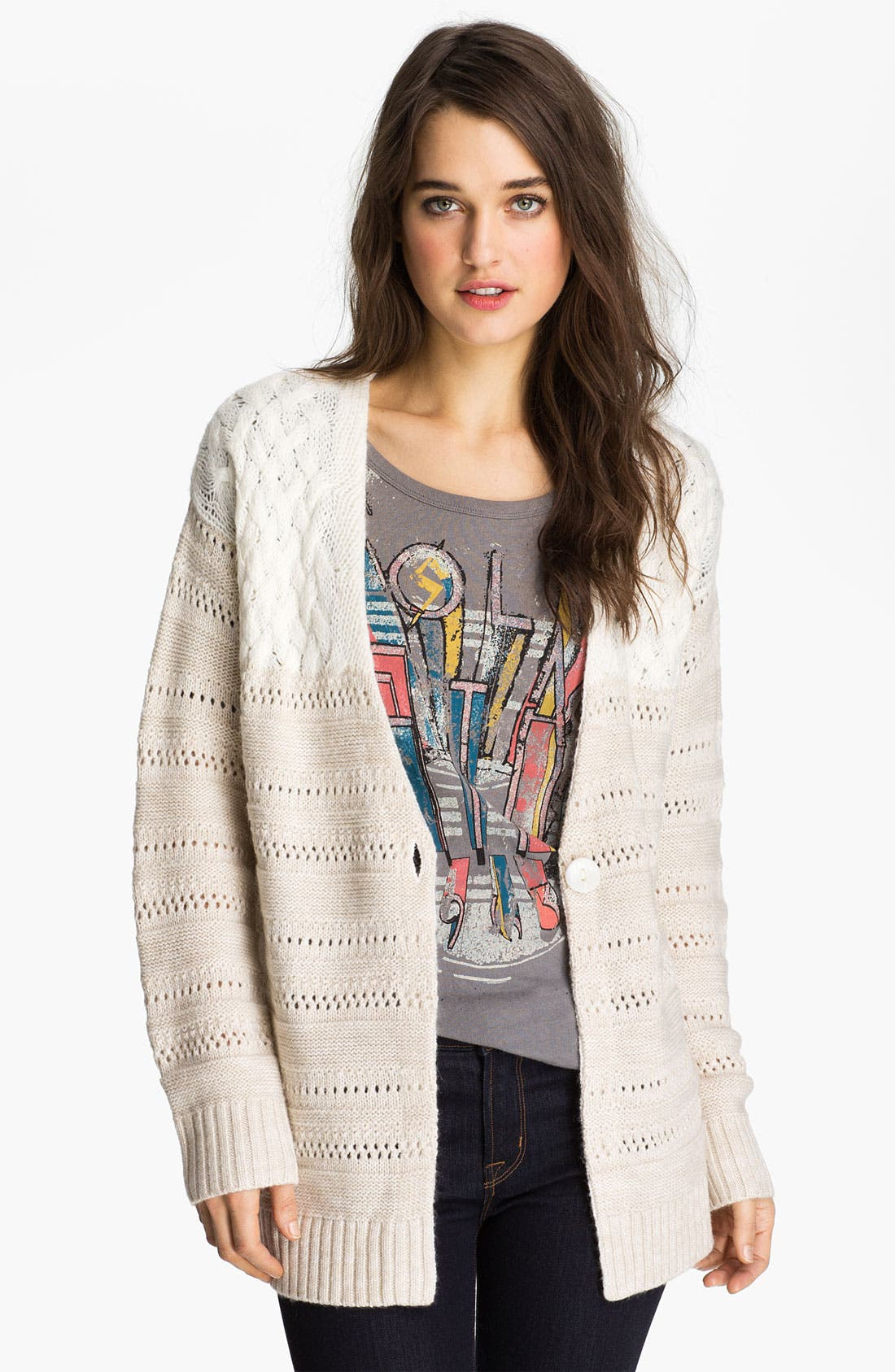 Alternate Image 1 Selected - Hinge® Mix Knit Cardigan