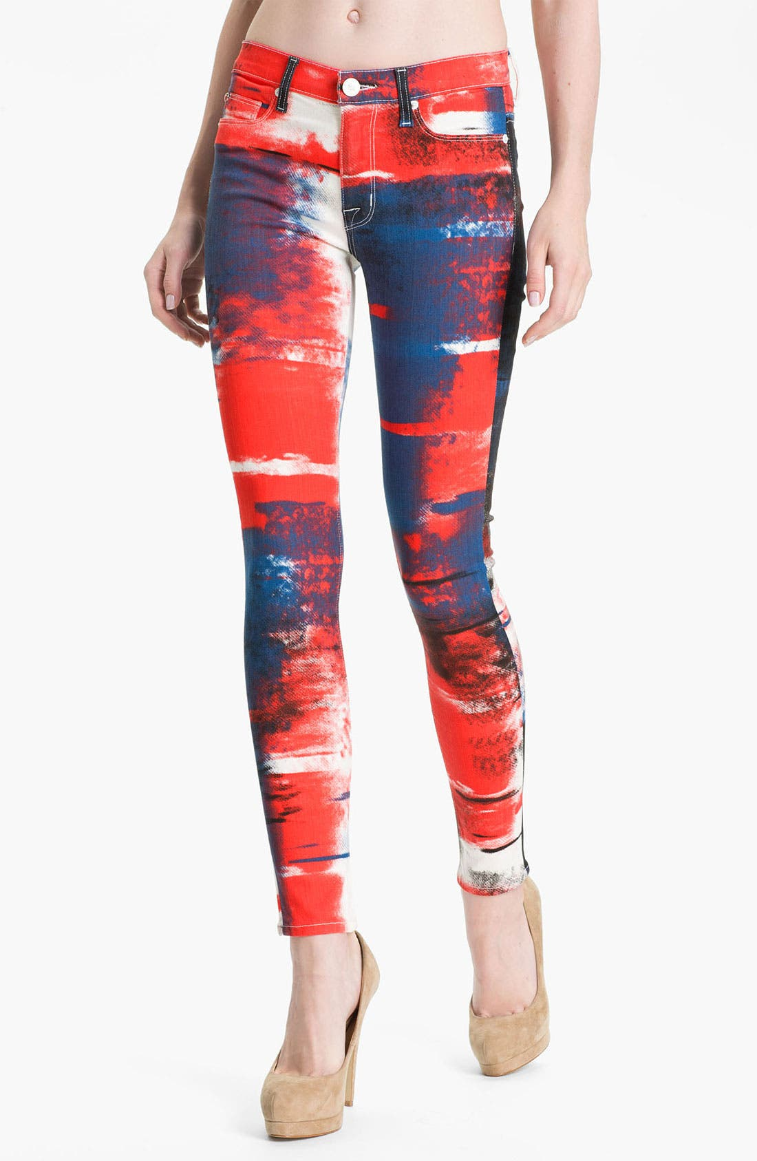 Main Image - Hudson Jeans 'Nico' Skinny Overdyed Jeans (Abstract)