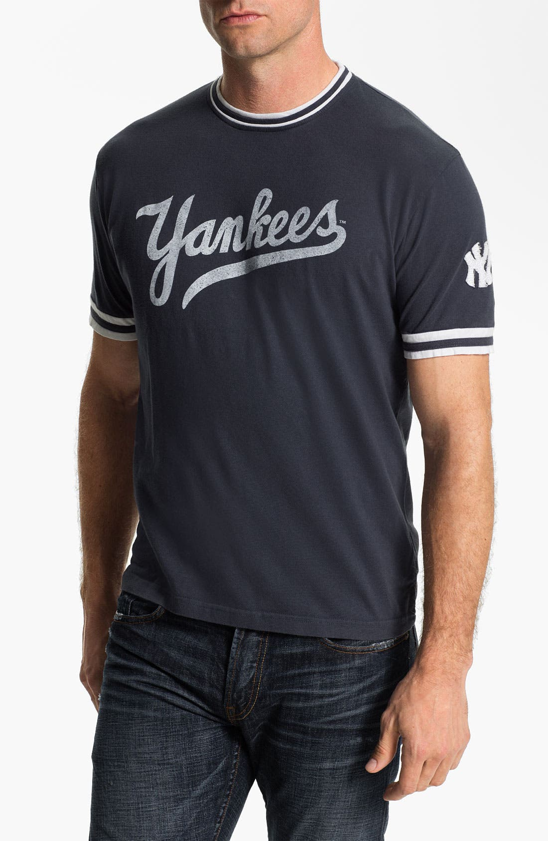 Main Image - Red Jacket 'New York Yankees' Trim Fit Ringer T-Shirt (Men)
