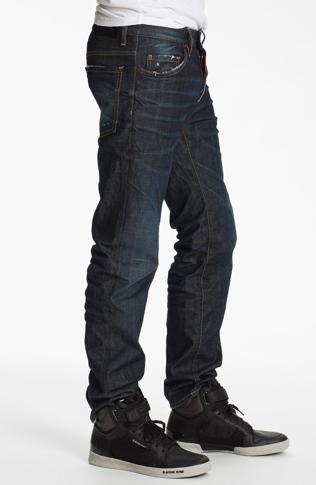 Alternate Image 3  - Dsquared2 'Dean' Straight Leg Jeans (Blue)