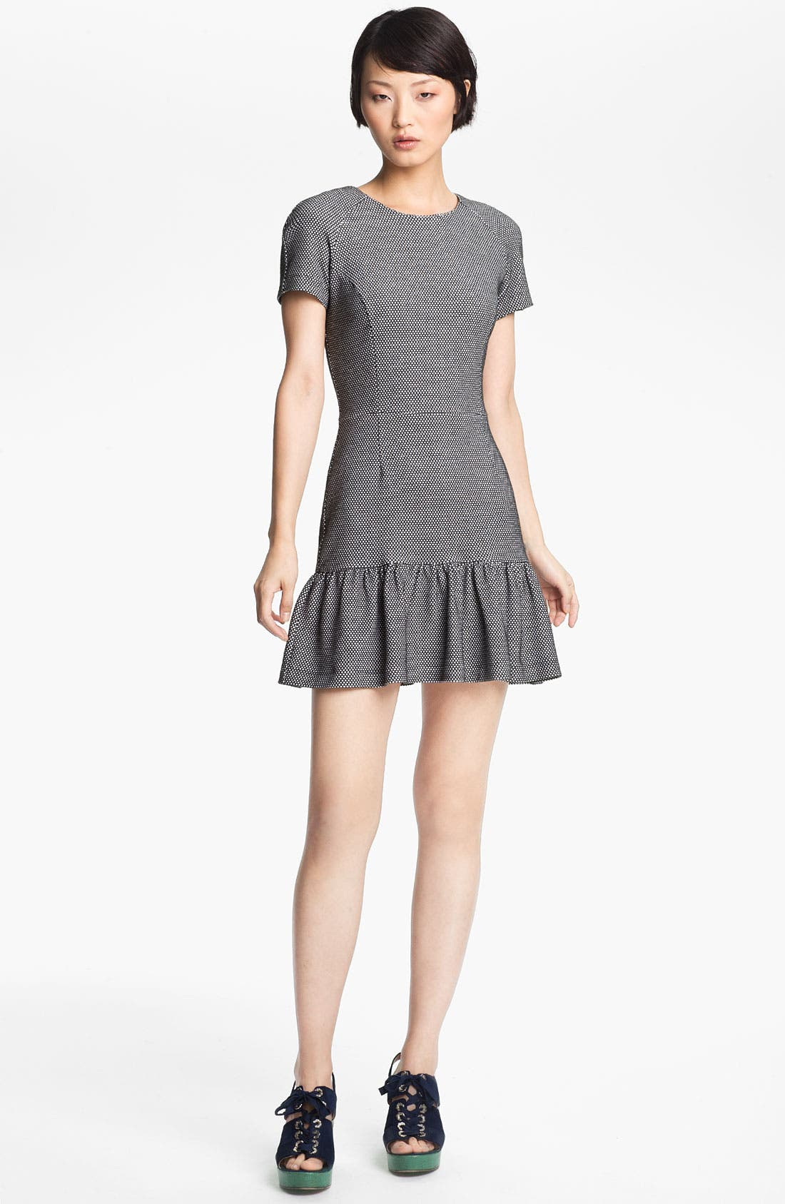 Alternate Image 1 Selected - Opening Ceremony Dropped Ruffle T-Shirt Dress