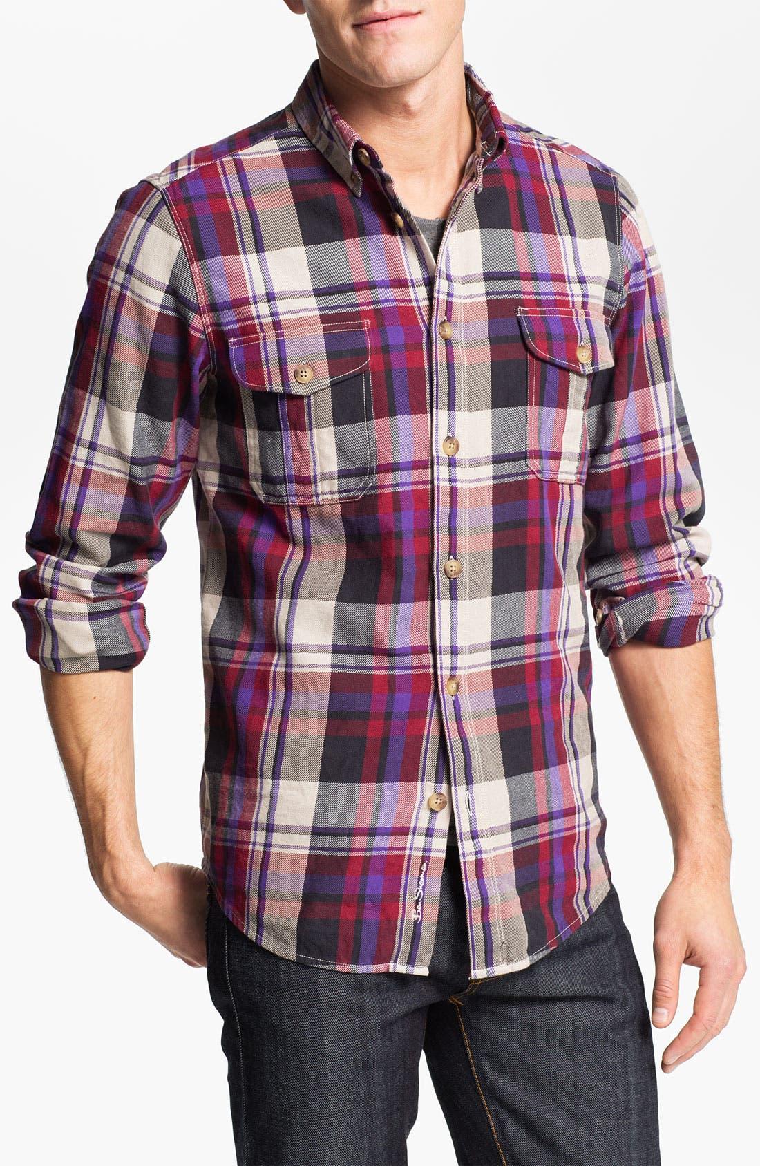 Alternate Image 1 Selected - Ben Sherman 'Clerkenwell' Plaid Flannel Shirt